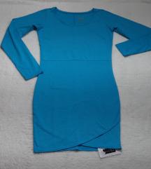 NOVA sa etiketom plava pamucna haljina