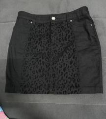 H&M suknja sa tigrastim printom