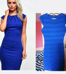 Kraljevsko plava haljina Novo