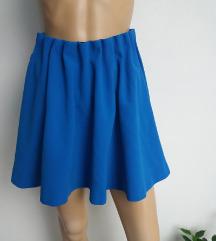 H&M plava skater suknja