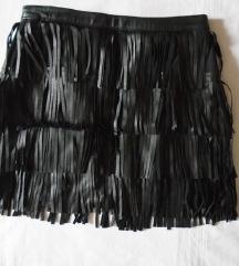 Zara kožna suknja + poklon bodi