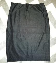 Pencil suknja visok struk