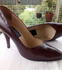 Braon kožne cipele, br. 39
