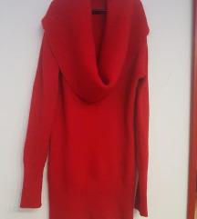 Dzemper haljina u crvenoj boji