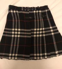 Karirana suknja na preklop