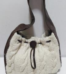 Vera Pelle velika torba 100%koža,vuna 38x30