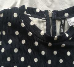 H&M teget haljina sa tufnicama
