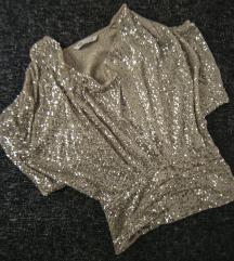 Zlatno-srebrna Zara bluza od krljusti, vel. S