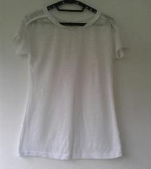 Bela poluprovidna majica