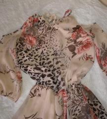 Haljina sa tigrasto cvetnim printom