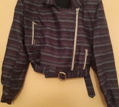 Moto jakna na pruge