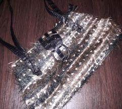 Kozna torba sa tkanim platnom SNIZENO SA 1200