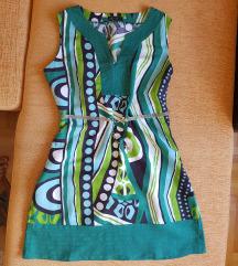 Zelena koktel haljina
