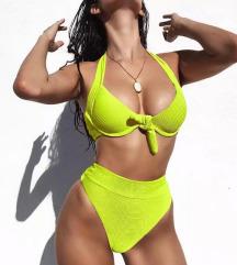 Neon zeleni High Waist bikini NOV SNIZENJE
