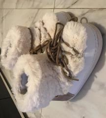 KYOTO bele krznene cizme