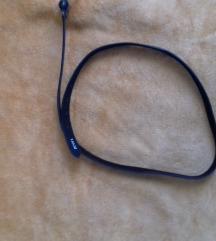 Crni kaiš sa detaljima, 130cm