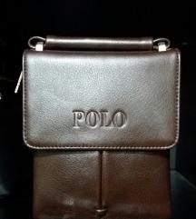 POLO 100% kožna muška torbica