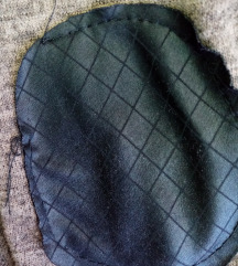 Maslinasti džemper kardigan sa kapuljačom