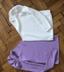 Trikotazne bluzice na jedno rame 2 kom