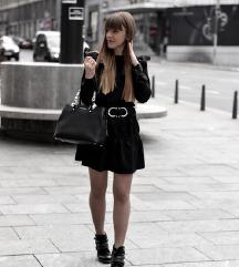 Crna haljina sa karnerima NOVO
