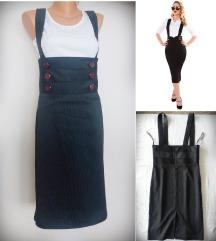 Crna suknja visokog struka