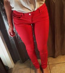 ZARA skinny bordo crvene pantalone