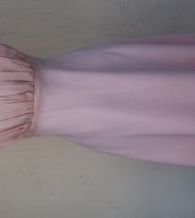 Roza top haljina M velicina novo