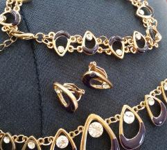 Set narukvica, ogrlica, mindjuse