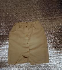 Lanena suknja