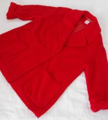 MONDI jarko crveni oversized kaput 40