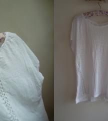 Esprit oversized bela majica, L