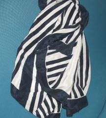 Original teget-bela svilena marama