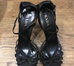 Satenske sandale Prada
