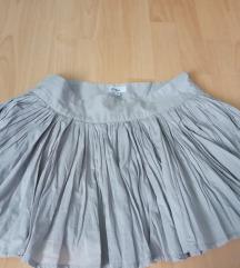 Siva boho suknja