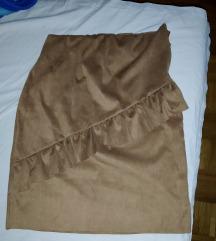 Suknja od velura Italia Nova