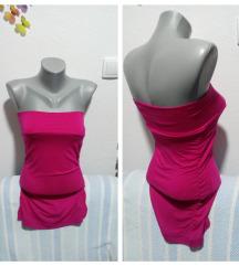 Pink tunika sa elastinom