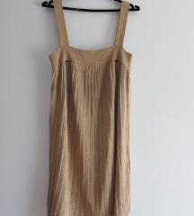 zlatna h&m haljina