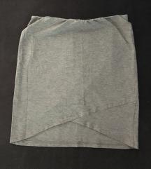 Mini siva suknja
