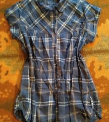 Karirana košulja-tunika L/XL