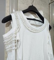Bela bluza sa biserima