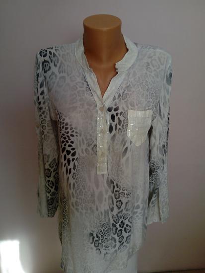 Košulja / tunika u bež-beloj boji M