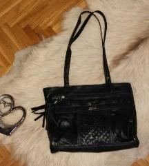 Crna kozna torba AKCIJA