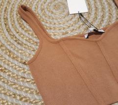 🖤Zara knit nude top NOVO!🖤
