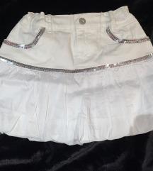 Bela dečija suknja M