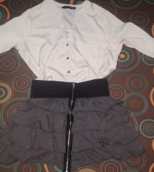 Siva suknja sa pojasom