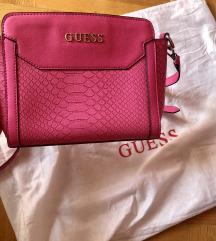 Guess pink croco torba, kao nova
