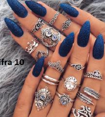 Set prstenje Tibetansko srebro Cena:800din