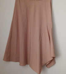 Zara basic puder roze suknja