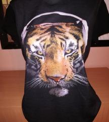 Nova crna mocna majca sa tigrom