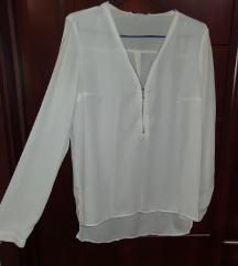 Košulja bela sa rajsferšlusom